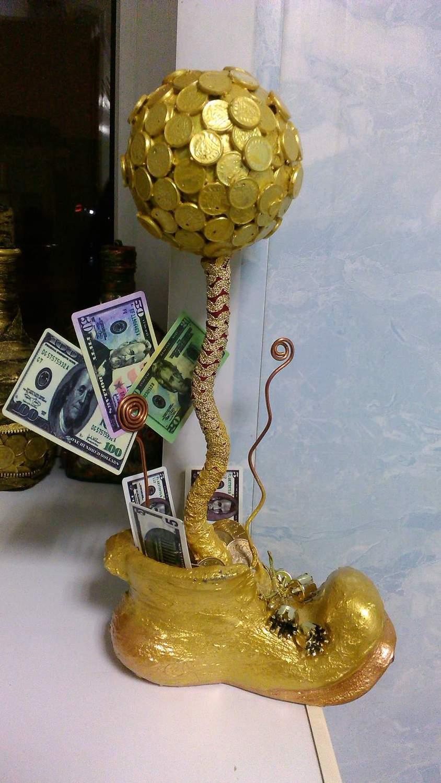 Топиарий из монет мастер класс фото