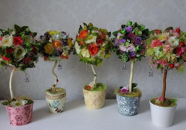 Как своими руками сделать цветы для топиария своими руками из